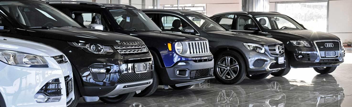 auto nuove nel salone della concessionaria auto autorizzuti